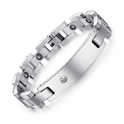 Healthy Magnet Couple Titanium Steel Bracelet