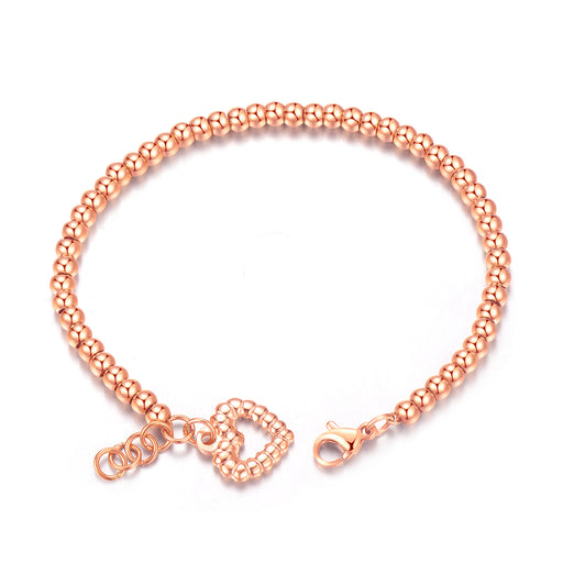 Love electroplating rose gold bracelet women