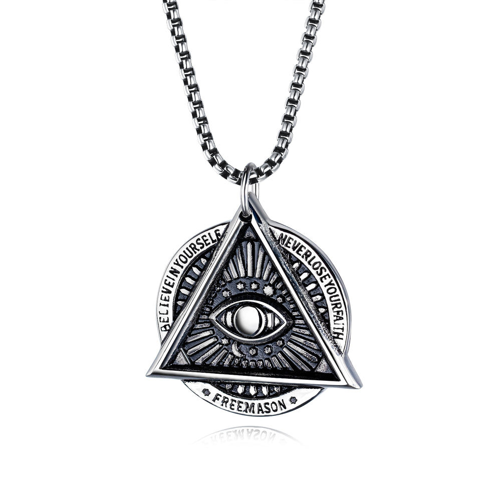 Freemason Demon Eye Necklace Men