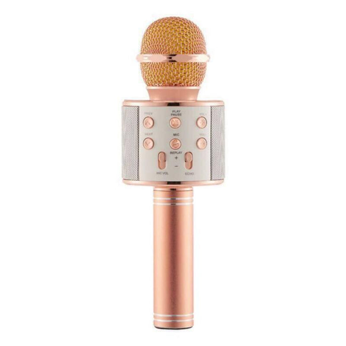 Wireless Bluetooth Karaoke Handheld Microphone USB KTV Player Speaker Record Music
