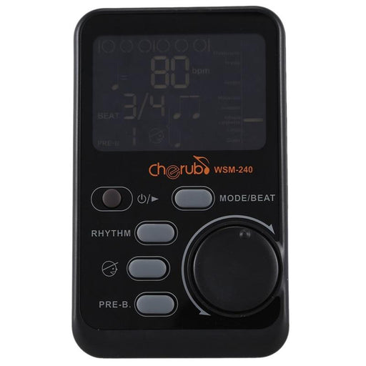 Cherub WSM-240 Portable Digital Metronome for Electronic Guitar Parts Piano Drum Rhythm Tutor