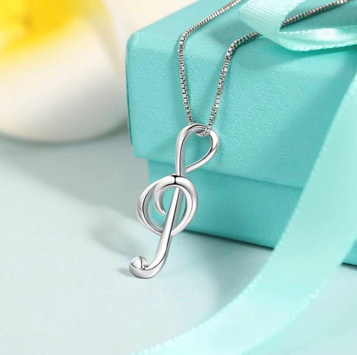 Sterling Silver Music Note Necklace