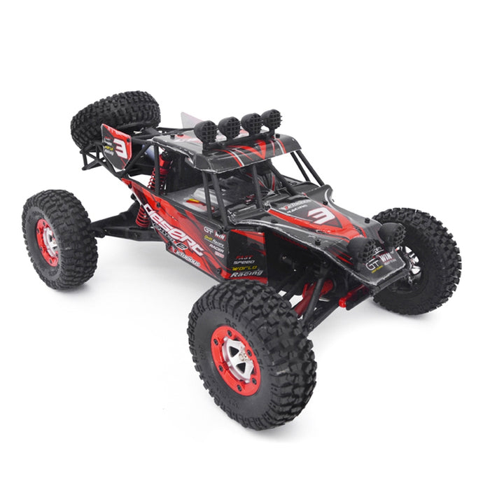RC Truck 1: 12 4WD 2.4Ghz Off-Road Rock Crawler (Green or Red)