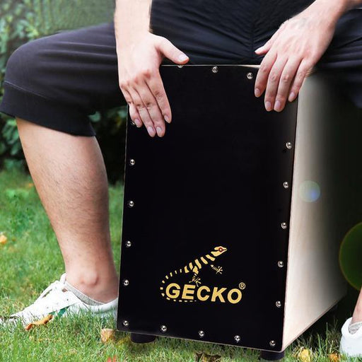 GECKO Wooden Percussion Box Flat Hand Drum