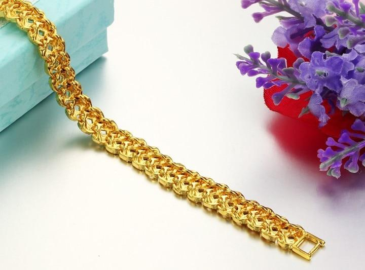 JEWELRY Gold Color Leisure Bracelet For Men/ Women  Selling Gold Color Bracelet 8.7mm