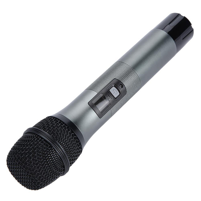 Dual Wireless Bluetooth Karaoke Handheld Microphone Various Frequency with Receiver Box