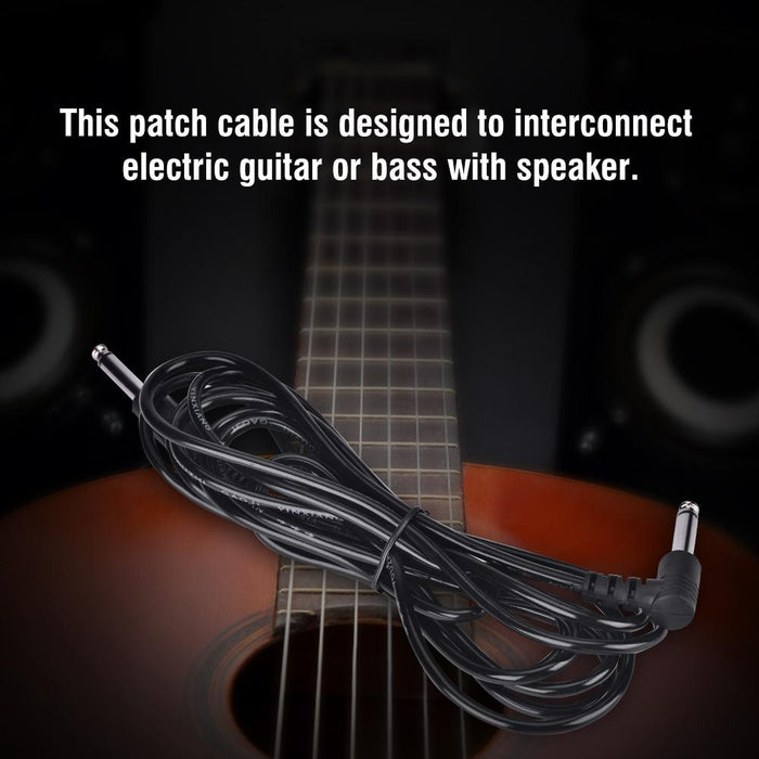 Right Angle Patch Cord Amplifier Cable Wire for Electric Guitar Bass