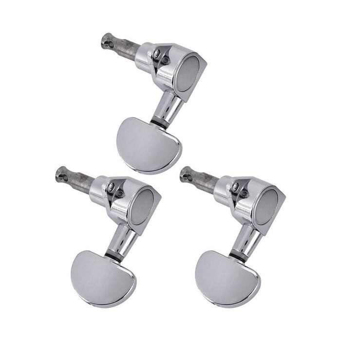 3L3R Guitar Tuning Pegs Locking Tuners Zinc Alloy Machine Heads Silver
