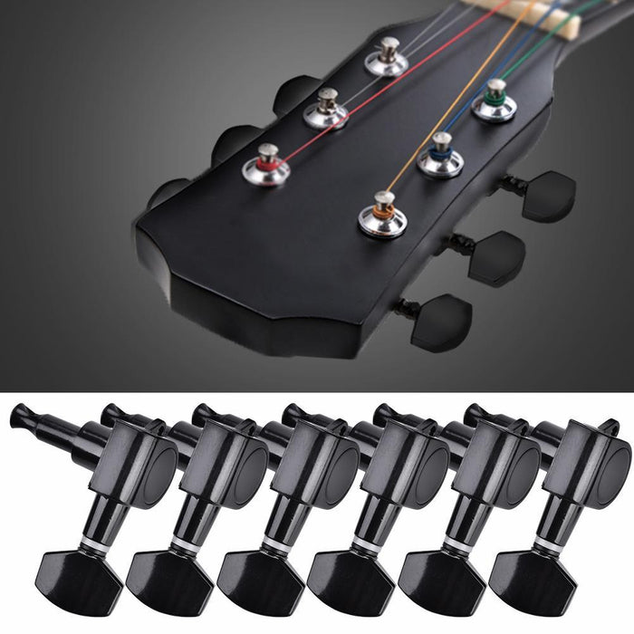 Guitar Tuning Pegs Locking Tuners  Zinc Alloy  Machine Heads for Guitar Black