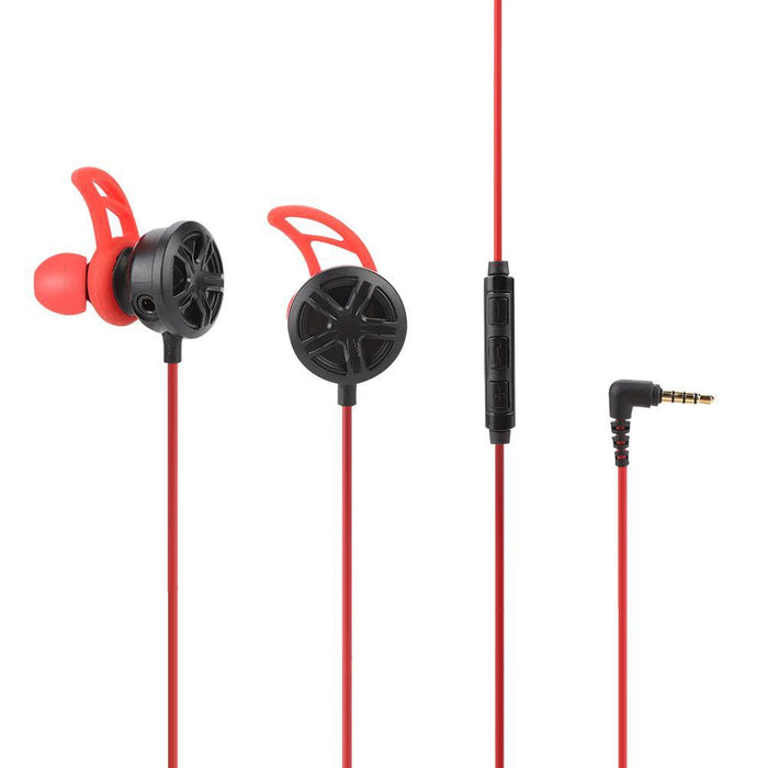 Wired In-ear Gaming Earphone Noise Cancelling Headset with Detachable Mic Microphone
