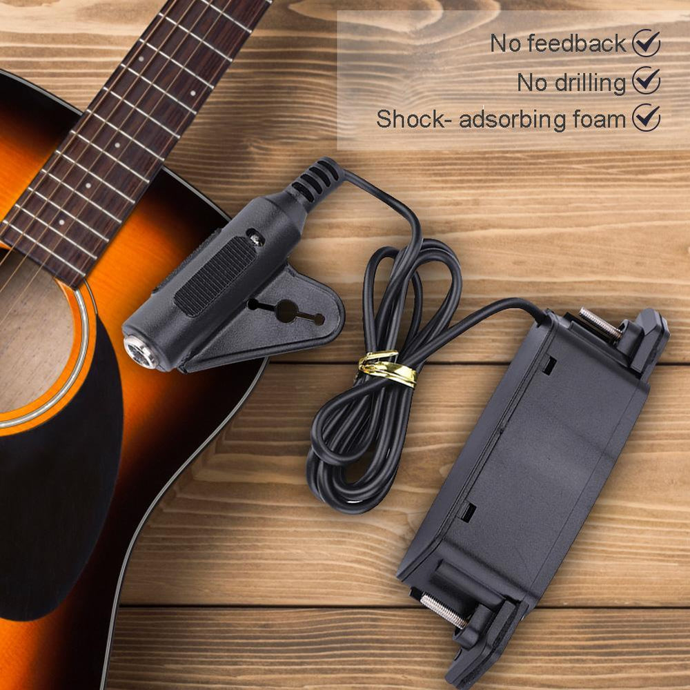 Magnetic Soundhole Pickup for Acoustic Guitar with End Pin Buckle