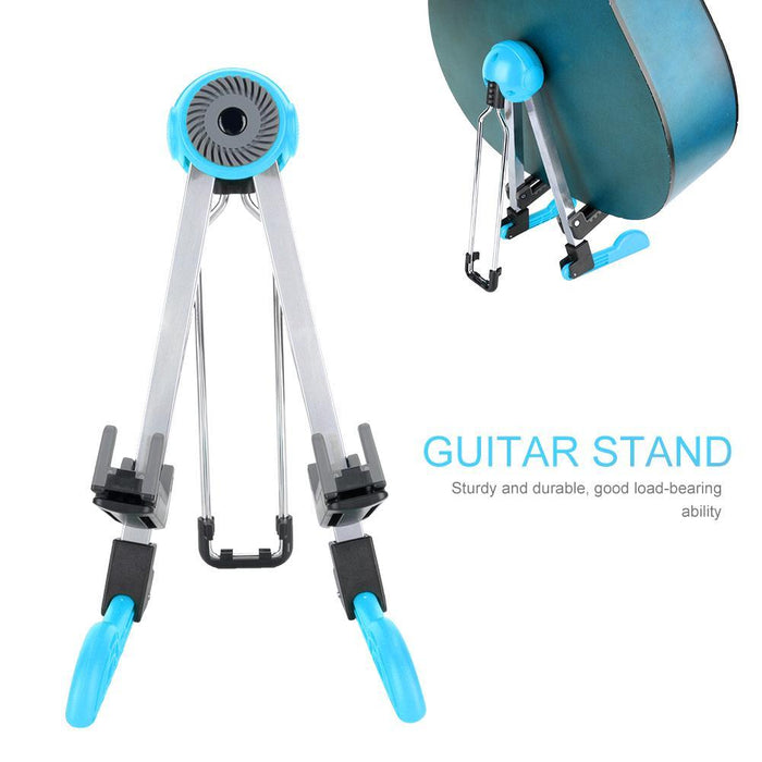 Guitar Stand, Foldable Instrument Stand ABS Material Universal for Acoustic,Classical, Electrical and Bass Guitar, FL-01P, Black