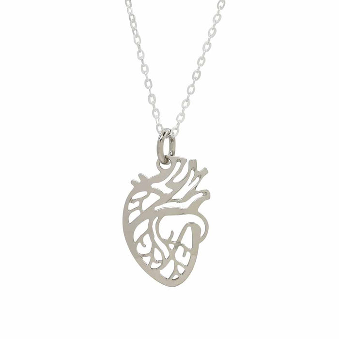 Anatomical Heart Necklace - science jewelry that makes great gifts for students and teachers in biology and medicine.