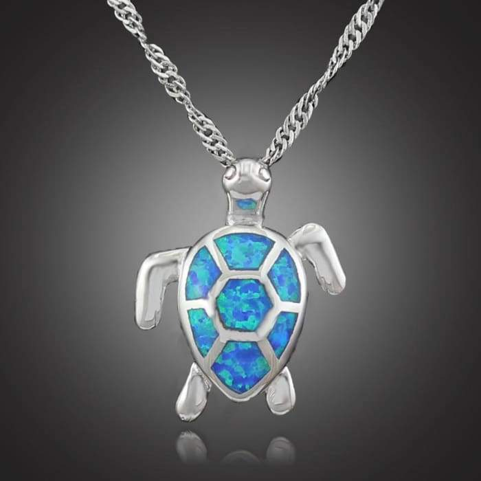 "Opaline Necklace and Pendant ""Turtle"""