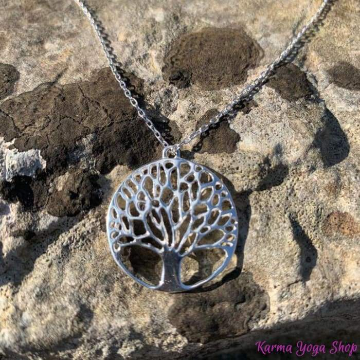 "Necklace & Pendant ""Tree of life"" in 925 Silver"