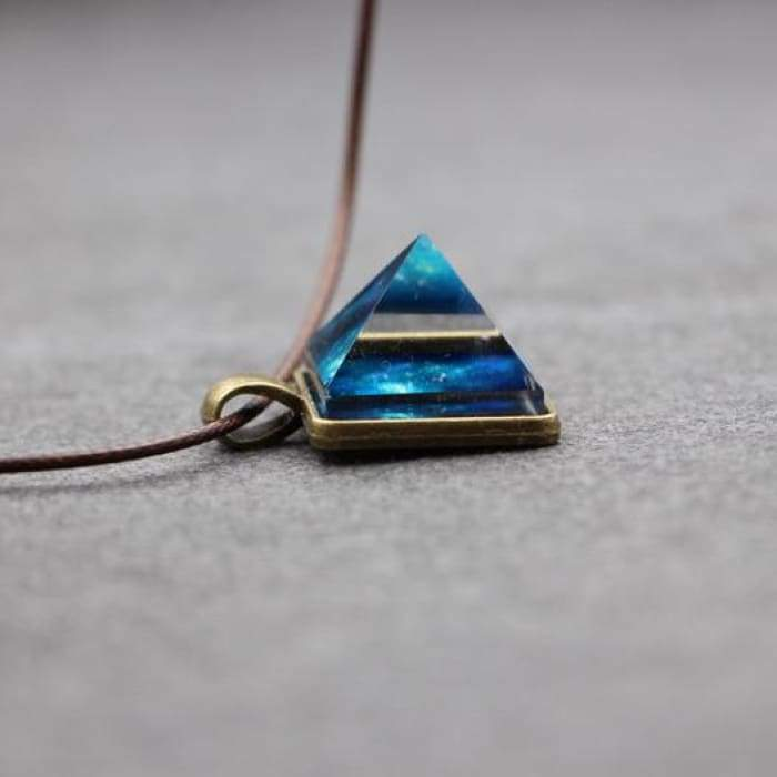 "Necklace ""Luminescent Crystal Pyramid"""