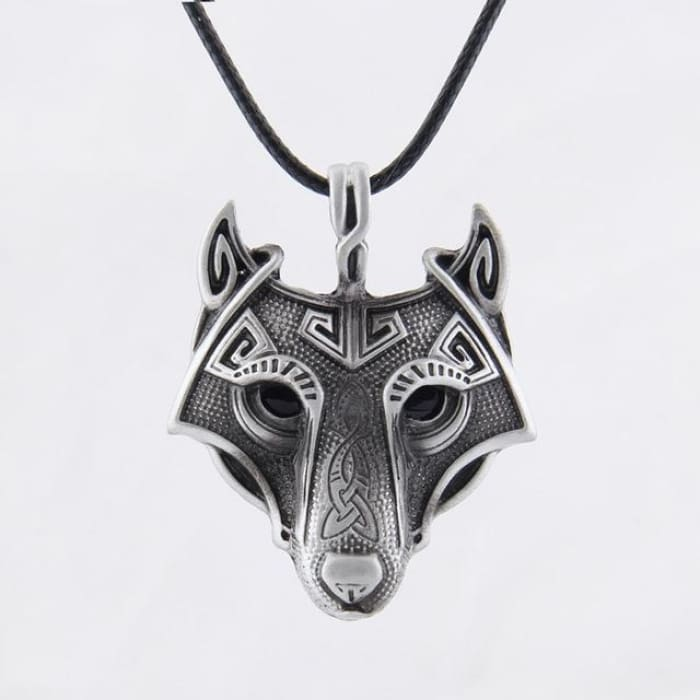 "Viking Necklace ""Wolf Head"""