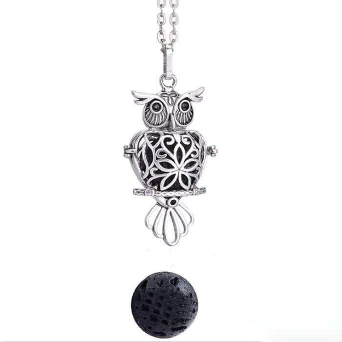 "Pendant ""Sacred Symbol and Lava Stone"" Essential Oil Diffuser - 7 symbols available"