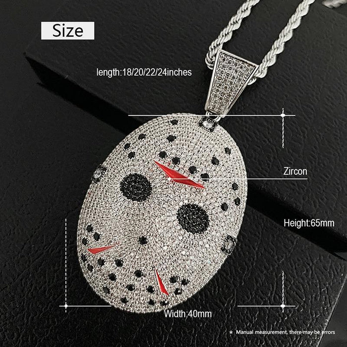 Hip Hop Face Pendant Necklace- Men's Hip Hip Jewelry