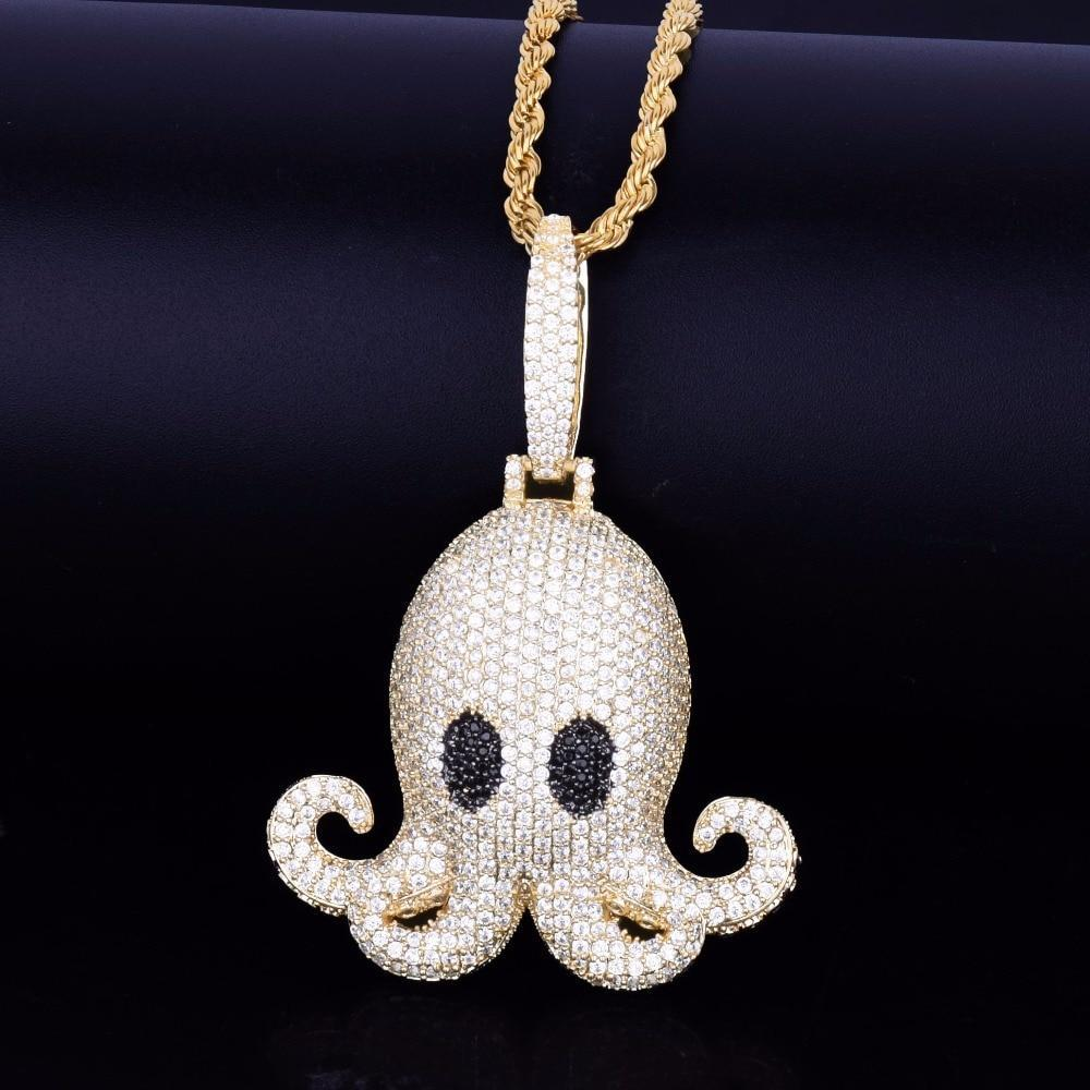 Men's Hip Hop Octopus Pendant Necklace
