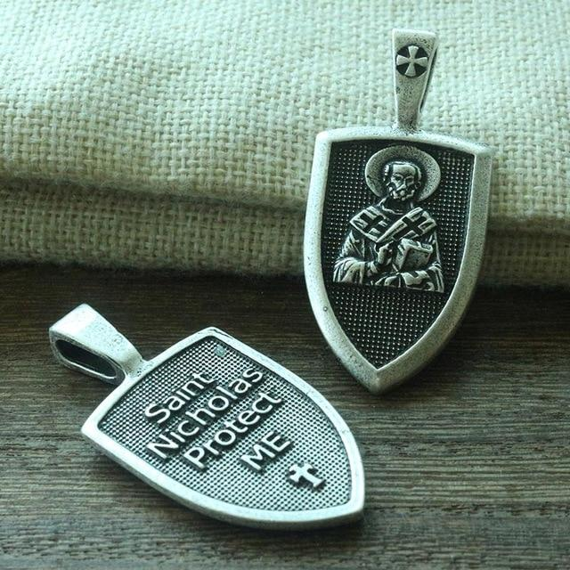 Archangel St.Michael Protect Me Shield Charm pendant