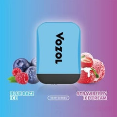 Vozol Blue Razz Ice + Strawberry Ice Cream