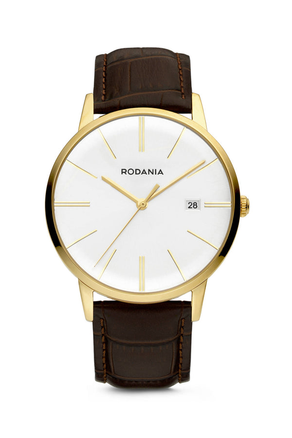 Rodania Legend Quartz 40mm Goud Heren