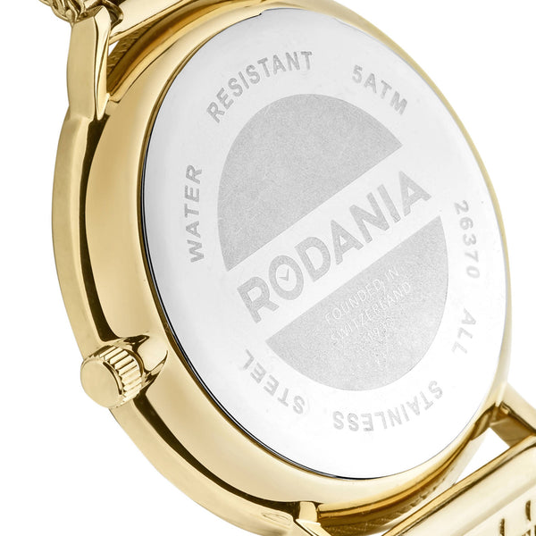 Rodania Manhattan Quartz Goud Heren