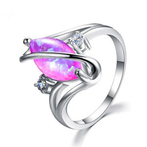 Purple Opal Fire Ring