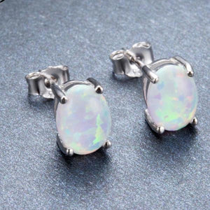 Opal Stud Earrings