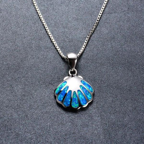 SEA SHELL BLUE FIRE OPAL