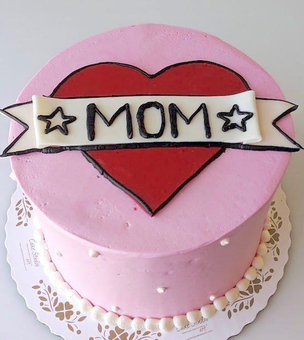 Mother's Day MOM Tattoo Cake