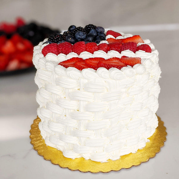 Fourth of July Fresh Berry Cake