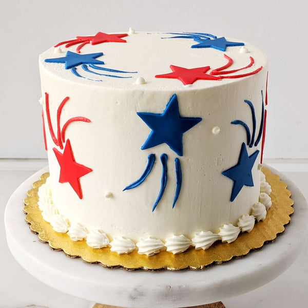 Fourth of July Star Cake