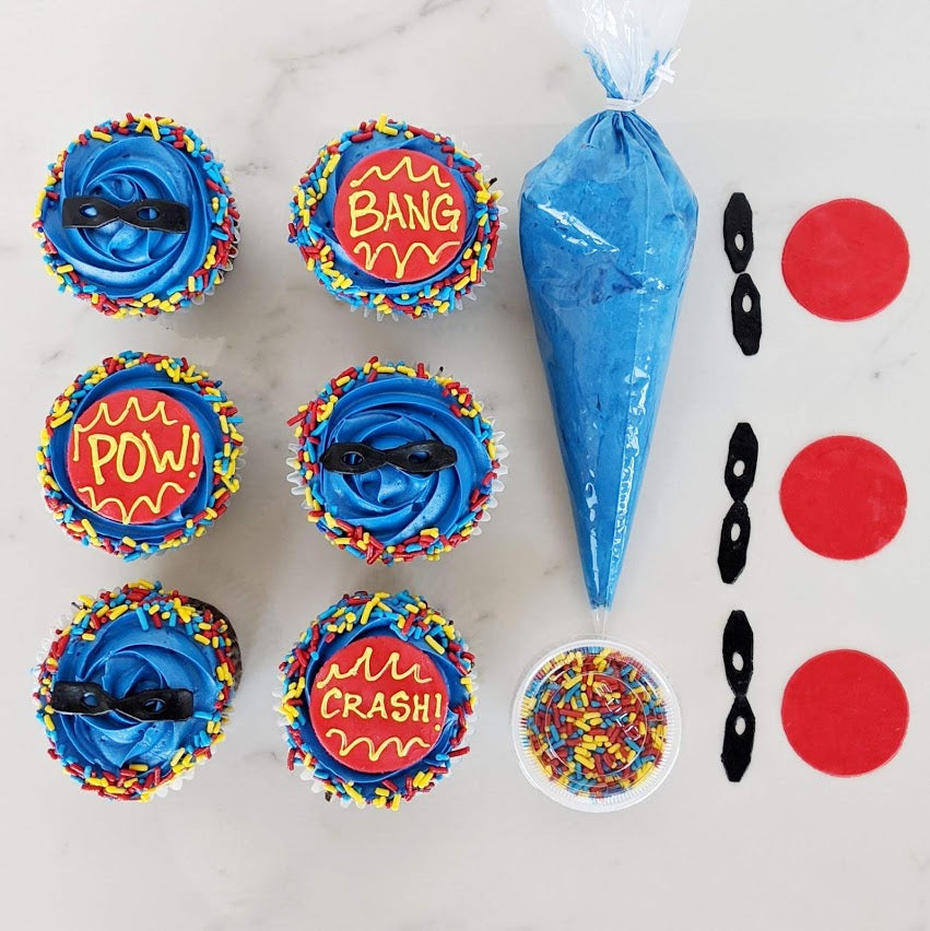 Super Hero Cupcake Kit - Imagination Collection
