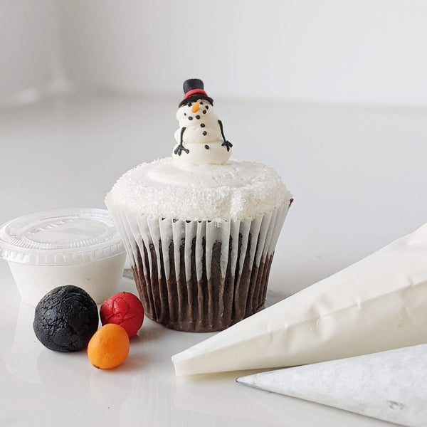 Winter Snowman Cupcake Kit