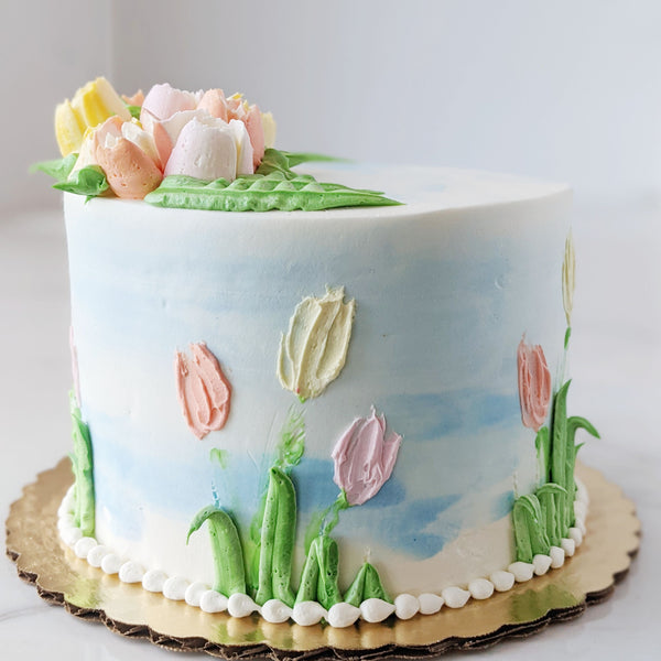 Spring Chocolate Bavarian Cake