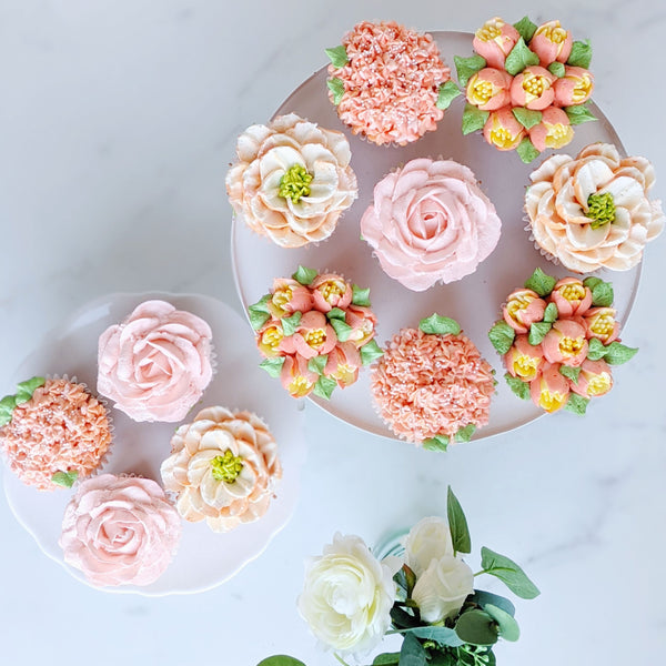 Mother's Day Rose Bouquet Cupcakes