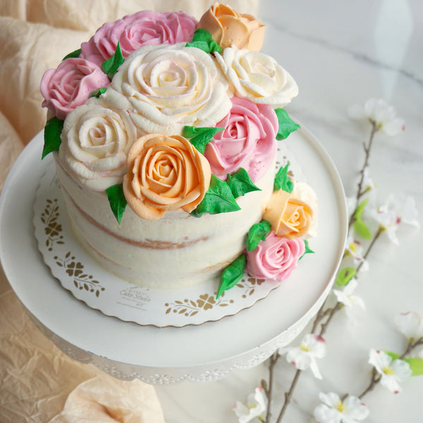 Mother's Day Burst of Blooms Cake