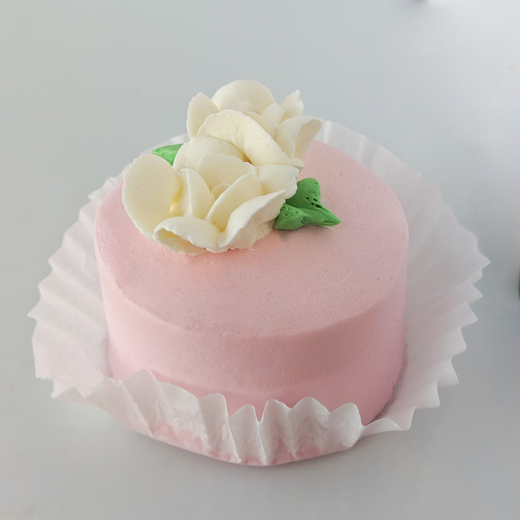 Pink Champagne with Bavarian Cream Petite Cake