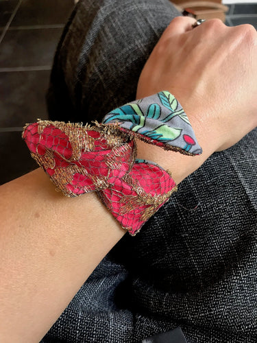 Bracelet Dentelle OR/ROUGE Gold/Red Lace Bracelet