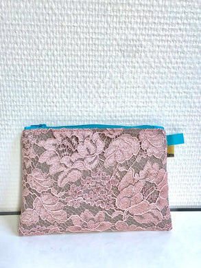 Trousse Dentelle MAUVE/GRIS Lace Clutch Bag