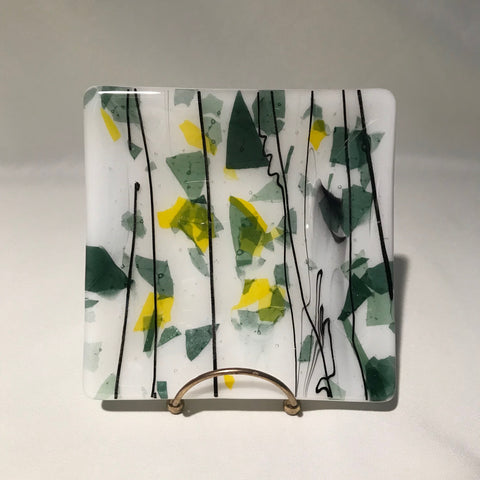 6x6 handmade glass plate