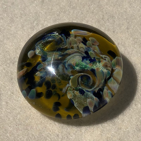 Handmade glass paperweight