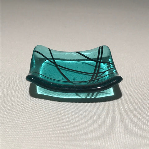 3x3 handmade glass dish