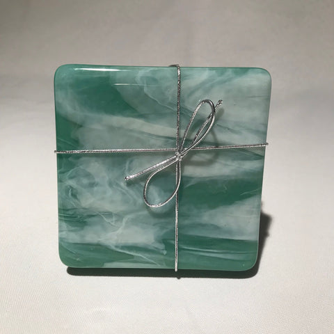 Handmade glass coasters