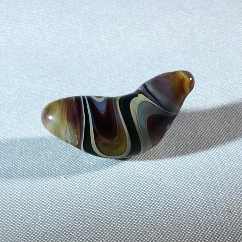 Handmade glass worry stone
