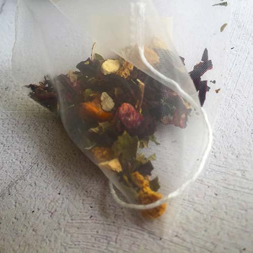 hibiscus flower tea bag