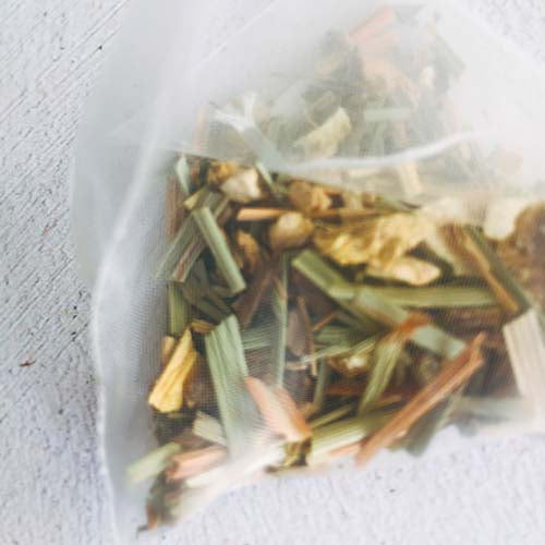 ginger lemongrass pyramid tea bag