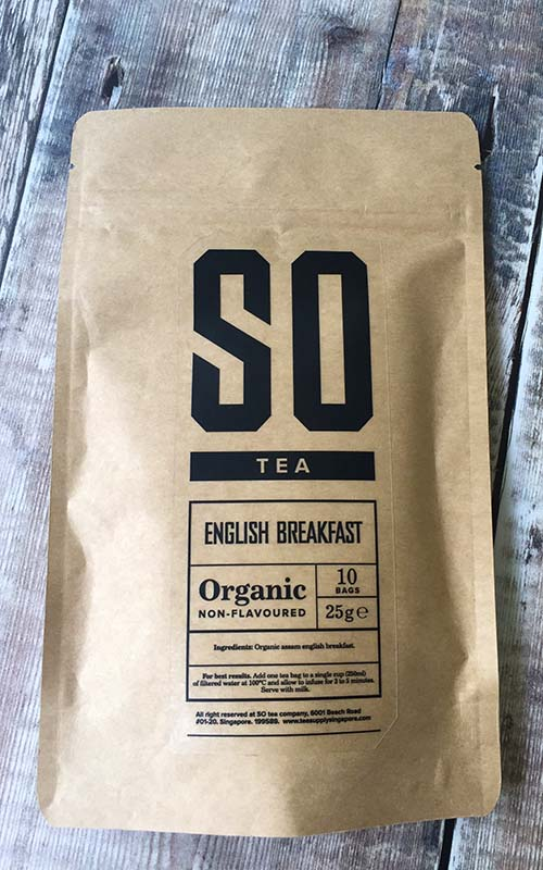 Organic English Breakfast tea singapore